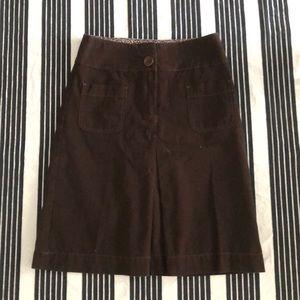 Boden brown twill skirt